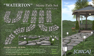 "@ SWANK | [CIRCA] - ""WATERTON"" - Stone Path Set - Light Grey 