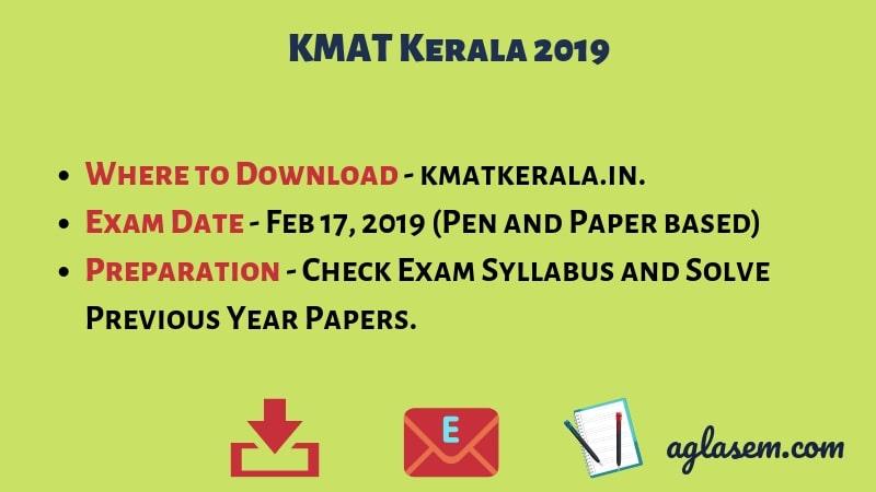 KMAT Kerala 2019 Registration Closing on 31 Jan; Admit Card from 06 Feb Onwards