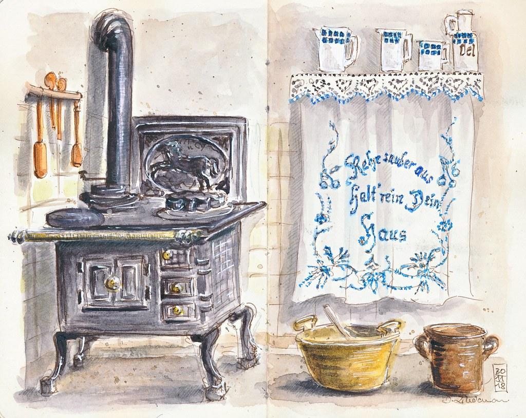 Oma's Küche | Omas Kuche Im Heimatmuseum In Rhuden Im Ehemaligen Schul Flickr