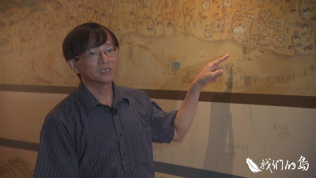 長期研究台灣史的邱淵惠,每次向學生講述台灣牛的歷史,總會從這張古地圖說起。