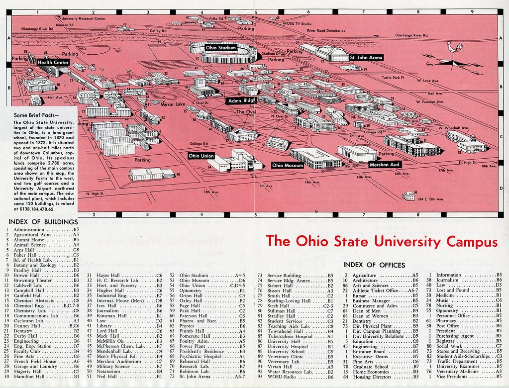 1961 Campus Map 1961 Campus Map Herrick John H Osu Hist Flickr