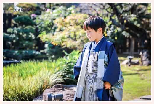 はくよ庵の日本庭園(愛知県豊川市) 七五三参りの後の食事会
