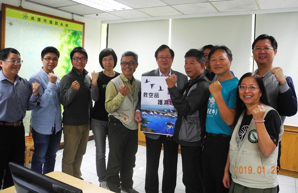 環團拜會高市工務局長吳明昌,籲共同守護黑琵棲地。圖片來源:高雄鳥會