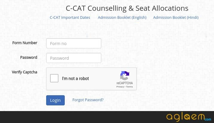 CDAC C-CAT 2019 choice filling