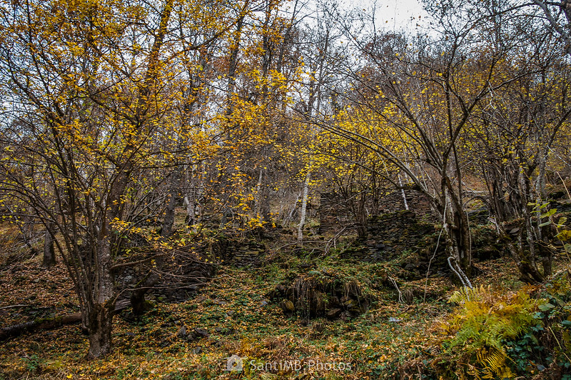 Ruinas de cabañas cerca de Eth Pradet en la Val de Toran