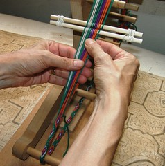 tubular band on inkle loom