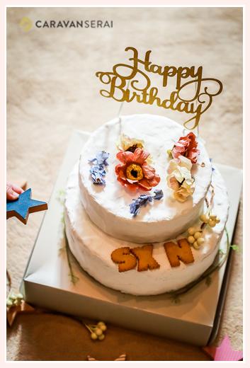 粘土でできた誕生日ケーキ ママのハンドメイド