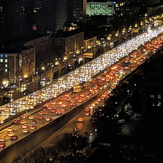 Traffic just like back home. Even 20 floors off the ground you can hear the ongoing car horns honking non-stop #beijing #china #chinatrip #traffic #trafficjam #eveningcommute | by Coach Ota