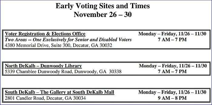 Early Voting At Dunwoody Library The Aha Connection