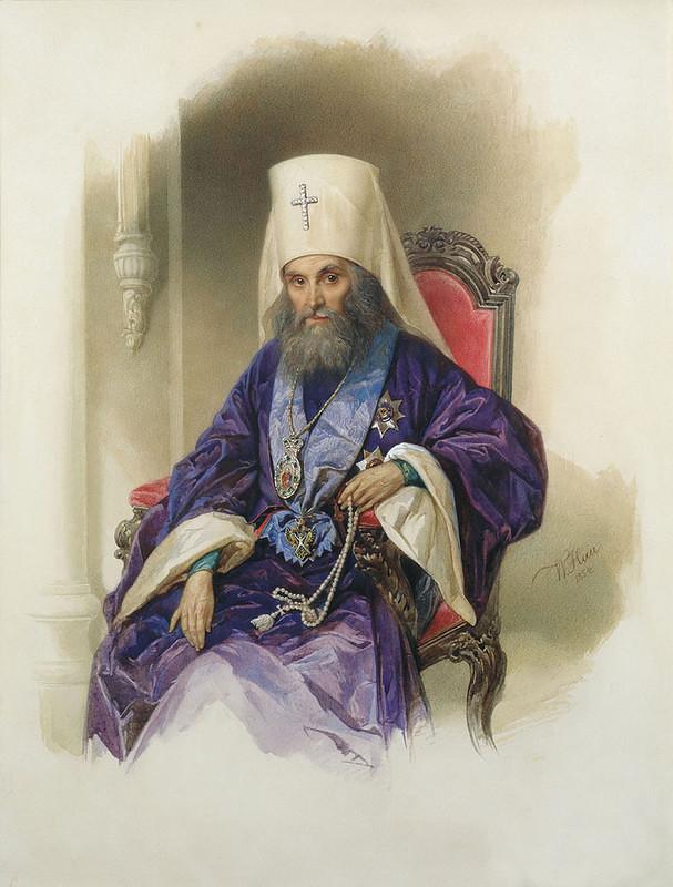 Митрополит Филарет. Портрет работы Владимира Гау, 1854 год
