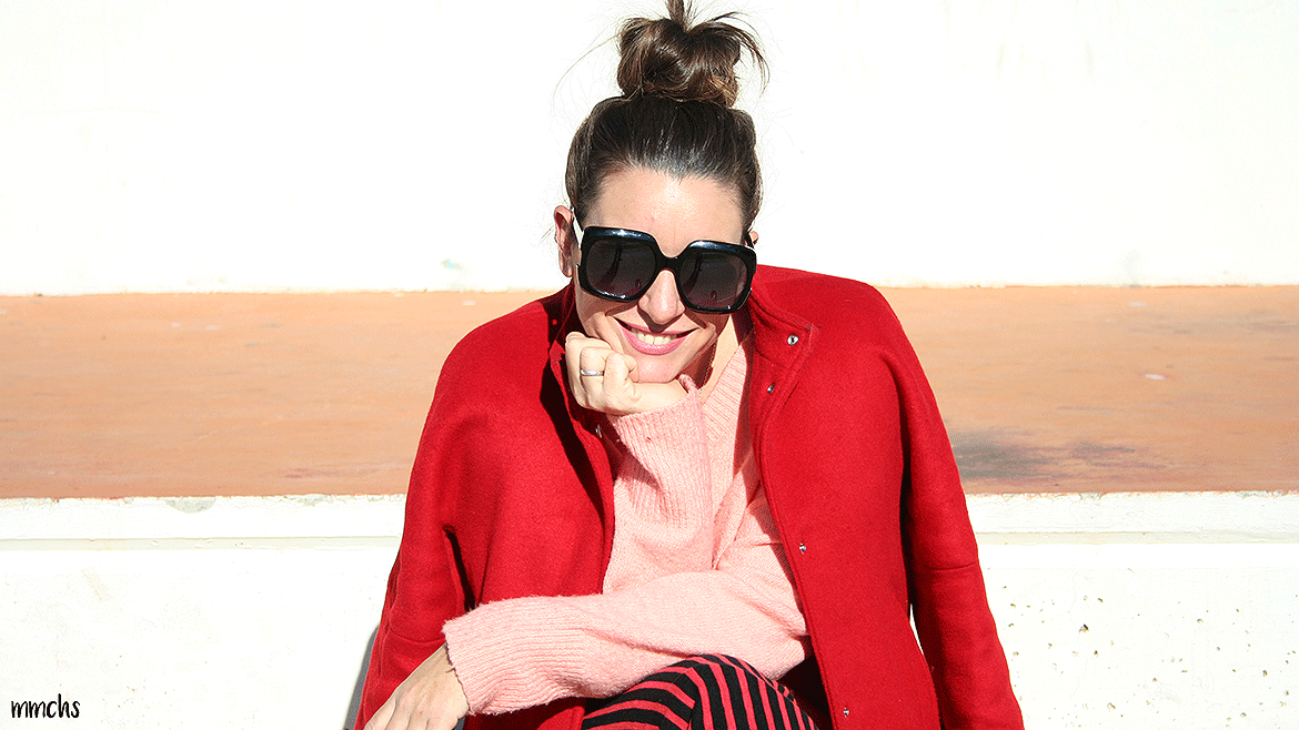 Look de mujer en color rojo, ¡mi color favorito!