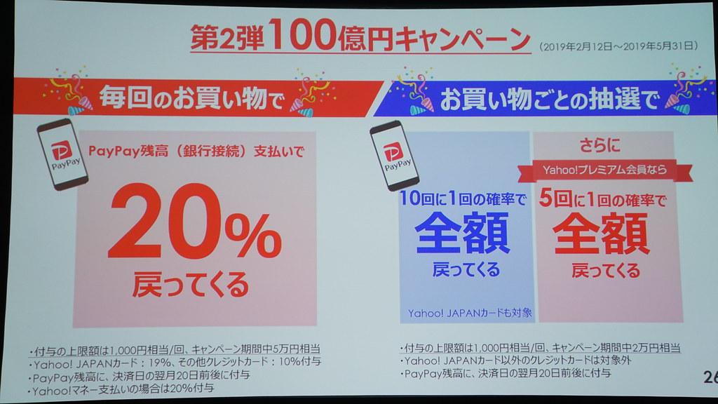 第2弾100億円キャンペーンは少額決済・日常的な利用に焦点