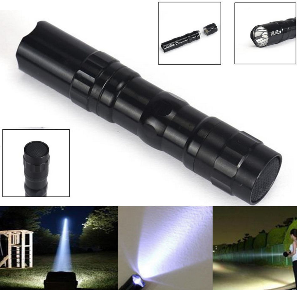 Super Bright 2000LM LED lamp w// Clip Clamp AA Flashlight Focus Torch Light