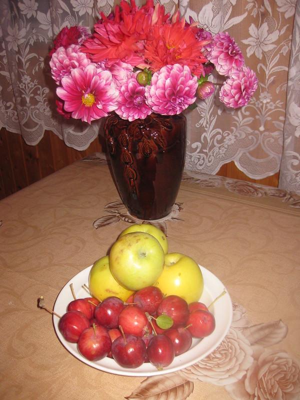 """Натюрморт с яблоками """"Дилдо"""" (Китайка)"""