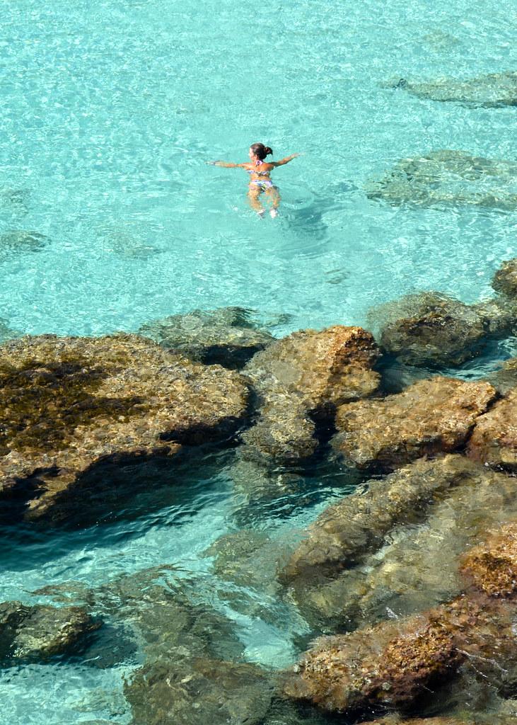 Aguas transparentes de Menorca