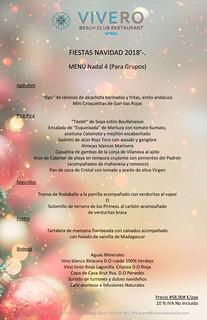 Menú Grupos Navidad 4 El Vivero