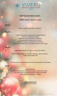 Menú Grupos Navidad 1 El Vivero
