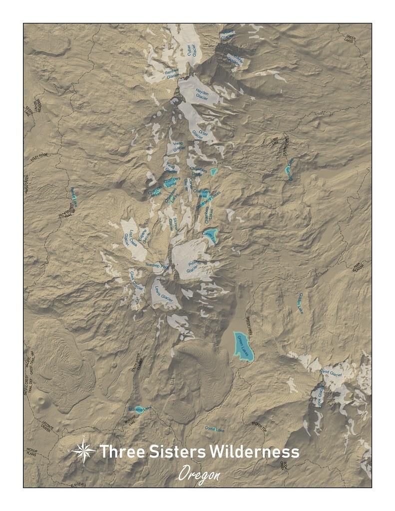 Deschutes National Forest Map on