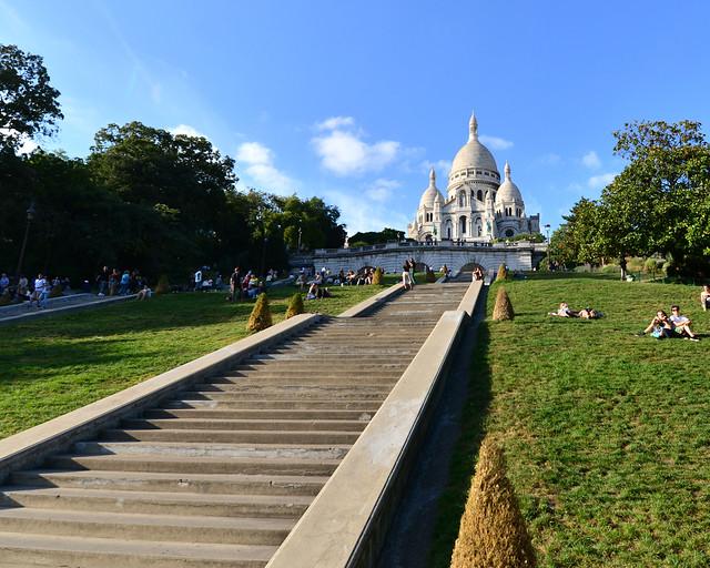 Jardines frente al Sacre Coeur