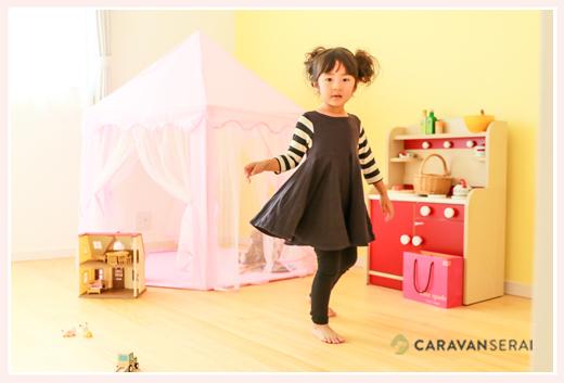 女の子の子ども部屋 ピンクのサーカステント