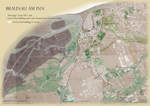 Braunau am Inn 1817 vs. 2018 | by natur:büro