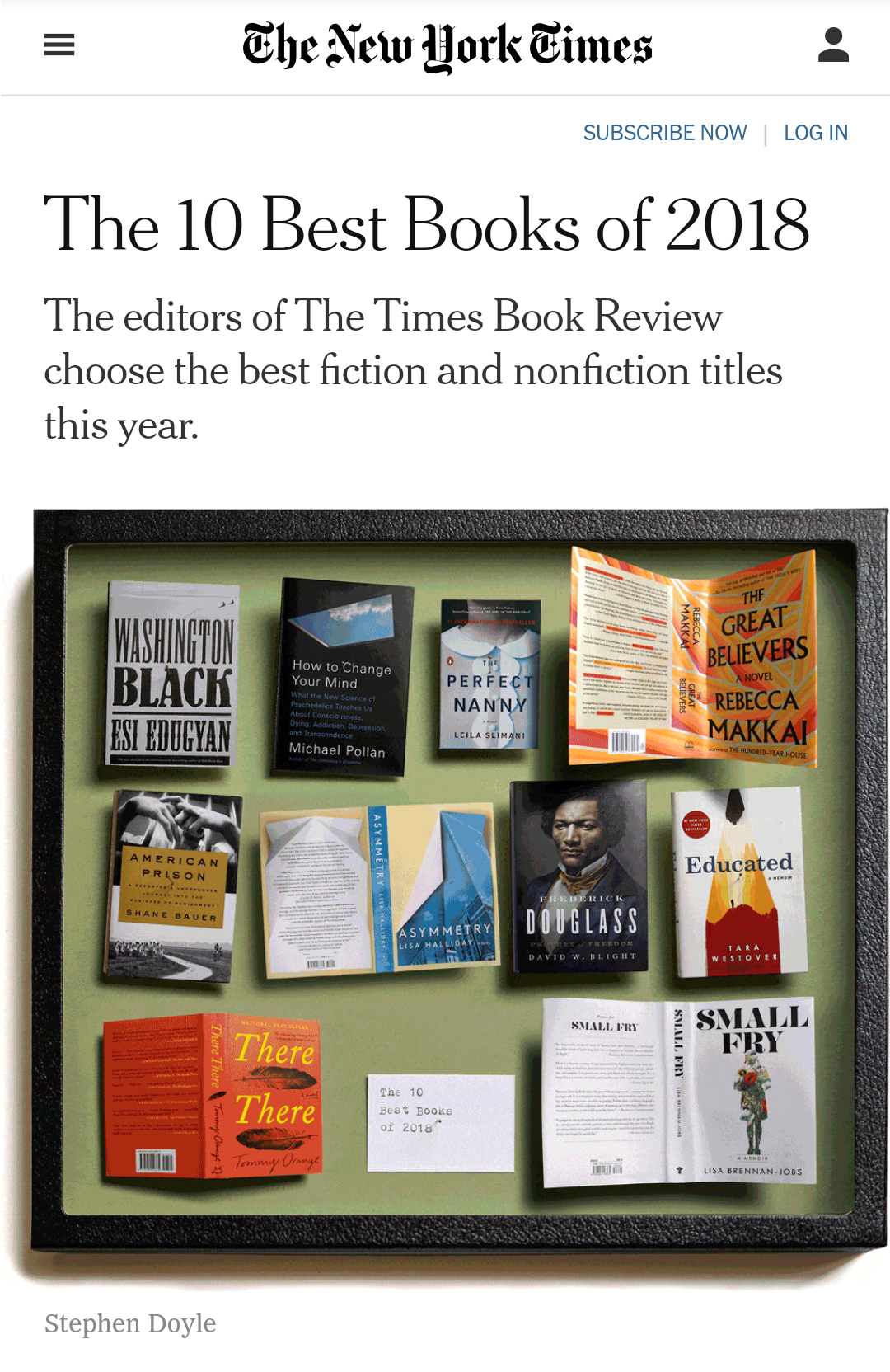 THE NY TIMES BEST BOOKS OF 2018