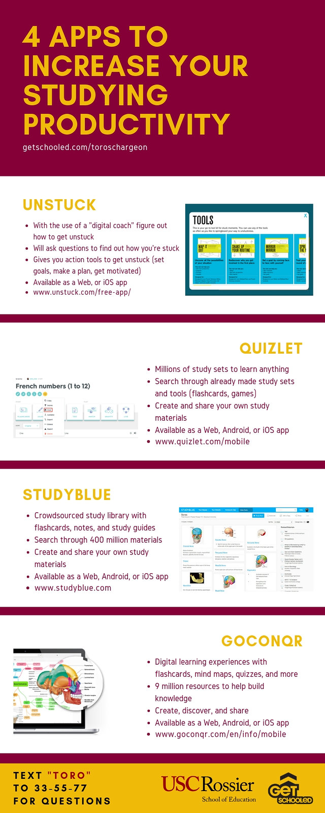 PDF Of 4 Apps To Increase Your Studying Productivity infographic