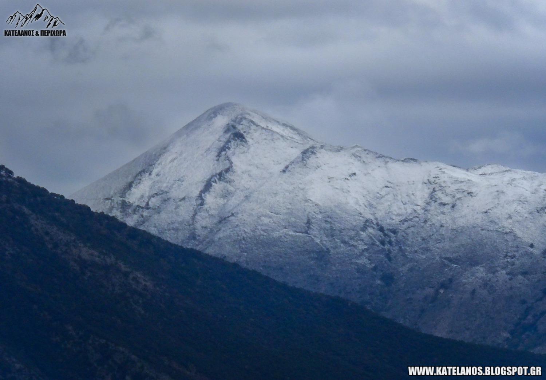 χηλη κορυφη περγαντι ακαρνανικα πρωτα χιονια