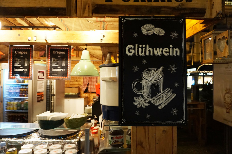 Gluhwein at Interlaken Christmas Market