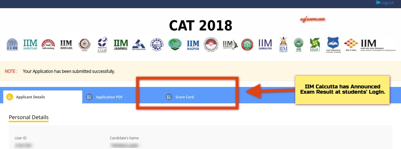 CAT 2018 Scorecard Download