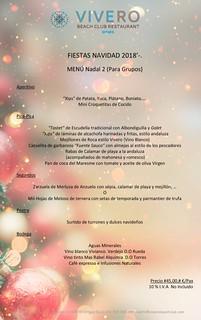 Menú Grupos Navidad 2 El Vivero