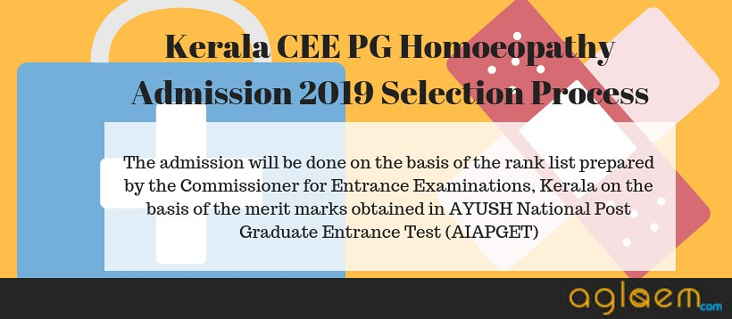 KERALA CEE PG HOMOEOPATHY ADMISSION 2019