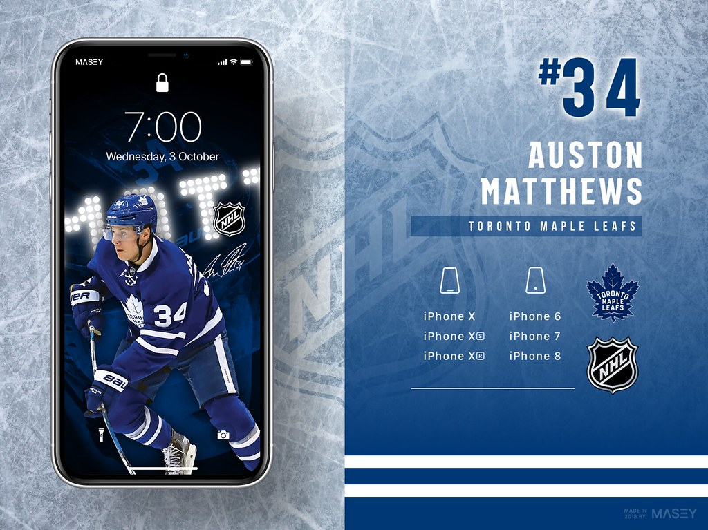 34 Auston Matthews Toronto Maple Leafs Iphone Wallpaper Flickr