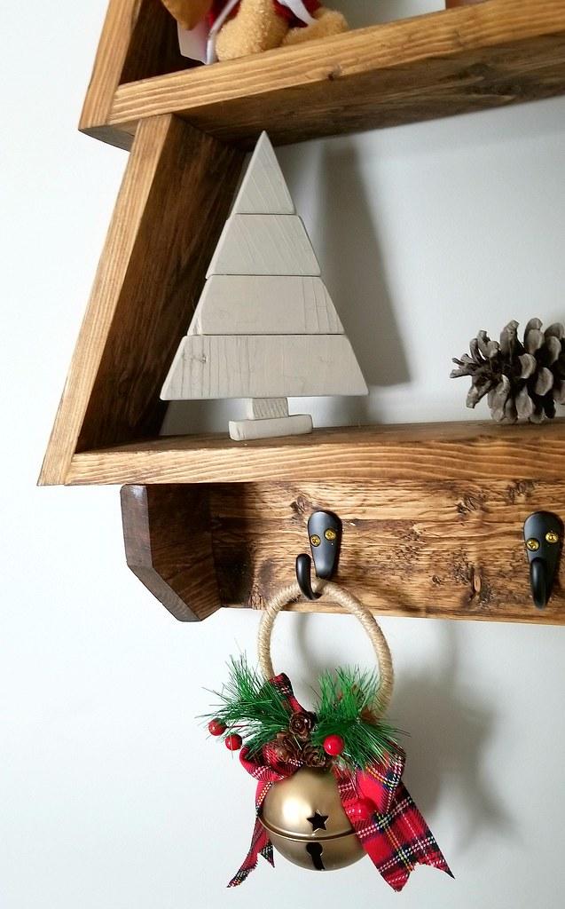 DIY Holiday Tree Wall Shelf