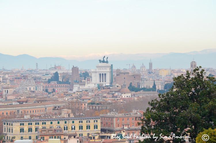 Da fonte do Gianicolo se tem uma vista maravilhosa da cidade eterna