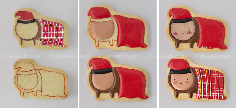 decoración galletas tio nadal