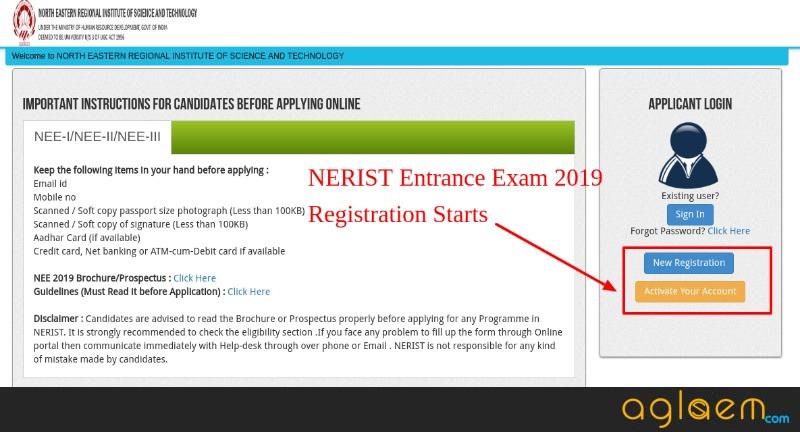 NERIST Entrance Exam 2019