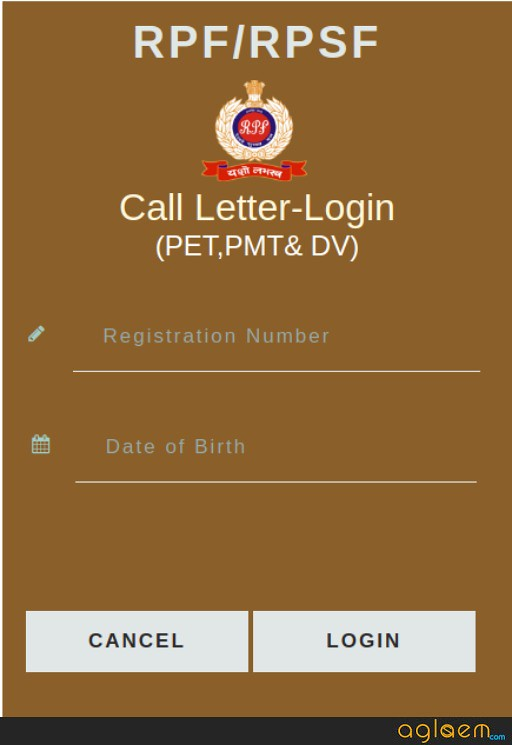 RPF SI Admit Card 2018-2019 (Released for PET / PMT) - Download Here Hall Ticket