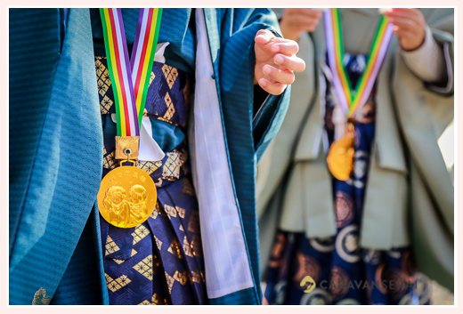 七五三 神社からもらえる金メダル