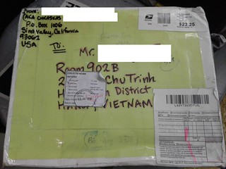image of returned mail | by the24daysofchristmas