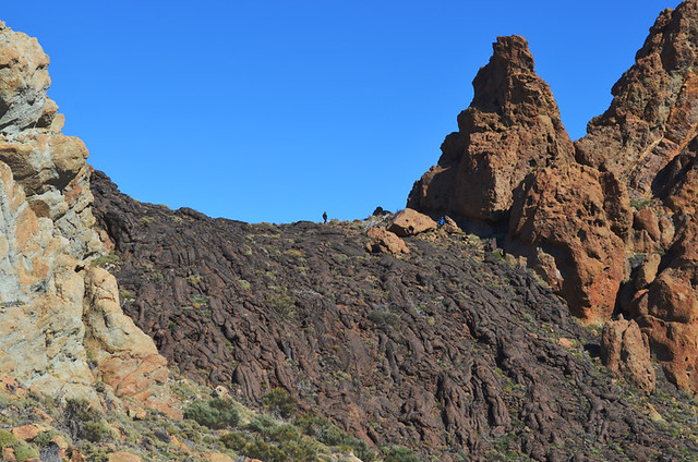 The lava flow, Teide National Park, Tenerife, Canary Islands