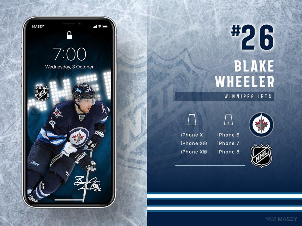 Blake Wheeler (Winnipeg Jets) iPhone Wallpaper