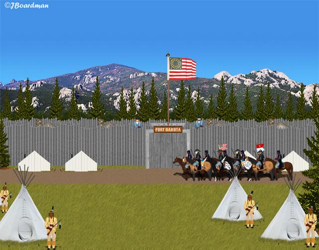 Captain Boomer and Captain Lincoln arrived at Fort Dakota ©J. Boardman