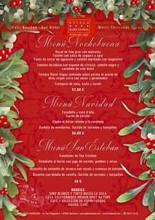 Menú Navidad Hotel Estela
