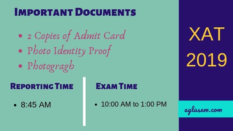 XAT 2019 Admit Card