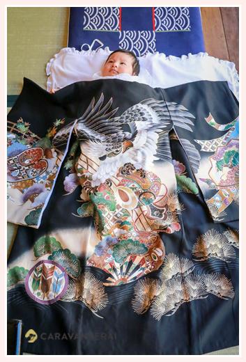 お宮参り 着物 1か月の赤ちゃん(男の子)