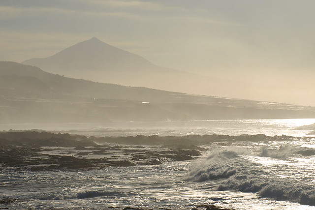 Teide and waves, Tenerife