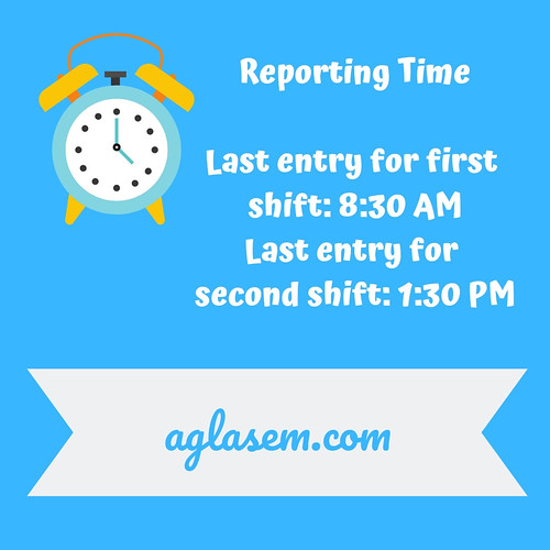 CMAT 2019 Reporting Time