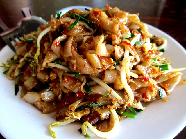 Sambal fried kway teow with soy sauce