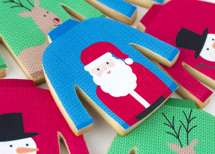 galletas de Navidad decoradas jerséis